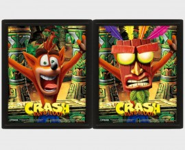 CRASH BANDICOOT - Mask Power Up - Quadro Lenticolare 3D Doppia Immagine