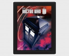 DOCTOR WHO - Flying Tardis - Quadro Lenticolare 3D