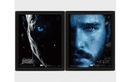 GAME OF THRONES - Jon Snow VS Night King - Quadro Lenticolare 3D Doppia Immagine