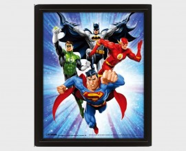 DC COMICS - Supreme Team - Quadro Lenticolare 3D