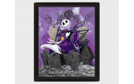NIGHTMARE BEFORE CHRISTMAS - Graveyard - Quadro Lenticolare 3D