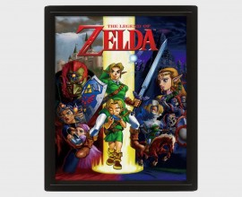 THE LEGEND OF ZELDA - Framed - Quadro Lenticolare 3D