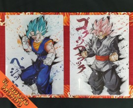 DRAGON BALL - Coppia Cartelline porta fogli con disegni di Gogeta God Blu e Black Rose