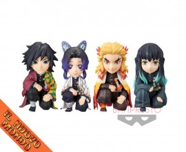 KIMETSU NO YAIBA - World Collectable Figure - Oyakata-sama no Maedazo Vol.1 - SET COMPLETO (Bandai Spirits)